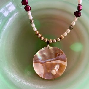 Artisan made freshwater pearl necklace